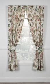 Jacobean Floral Curtain Fabric by Brissac Jacobean Floral Print Tailored Panels Window Curtains With