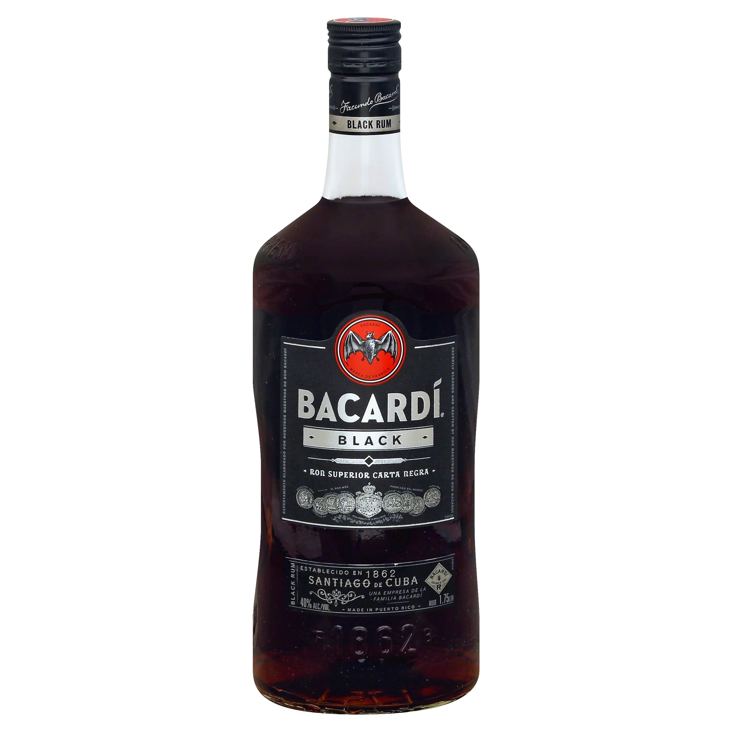 Bacardi Black Rum - 1.75 L bottle