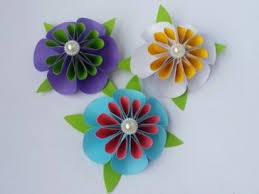 DIY Paper Flower How To Make Tiny Flowers Using Colour Easy Tutorial