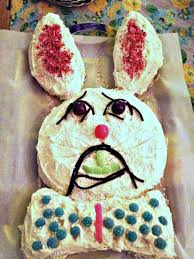 Easy Easter Bunny Cake is fun to make with kids