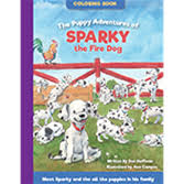 The Puppy Adventures Of Sparky Fire Dog Coloring Book 2016