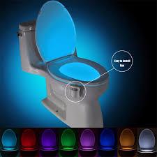 auto sensor aktiviert badezimmer wc nachtlicht led motion mit 8 farbe ändern batterie betrieben waschraum smart nacht le