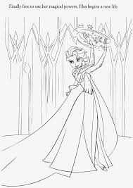Elsa Frozen Coloring Pages Printable Free