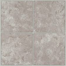 Grouted Vinyl Tile Pros Cons by Trafficmaster Ceramica Cool Grey 12 In X 12 In Resilient Vinyl
