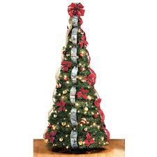 Slim Pre Lit Christmas Tree Canada by The Thomas Kinkade Pop Up 6 Foot Christmas Tree Hammacher Schlemmer