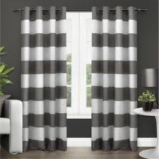 Allen Roth Curtains Alison Stripe by Polyester Striped Unlined Panels Ebay