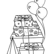 Boy Blowing His Birthday Cake Candles Gifts Coloring Page
