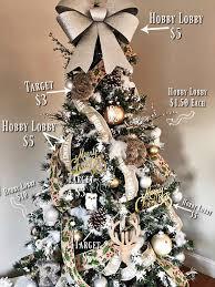 Hobby Lobby Burlap Christmas Tree Skirt by Christmas Tree Decor For 55 Our Farmhouse Glam Tree Yes Please