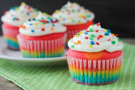 And These Rainbow Cupcakes Are Made With A Simple Boxed White Cake Mix Colored