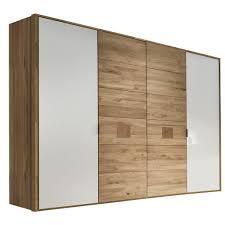 valnatura drehtürenschrank 4 türig eiche massiv weiß eichefarben lignum holz glas 240x216x60 cm geölt echtholz beimöbel