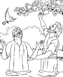John The Baptist And Jesus Looking Up Sky Coloring Page