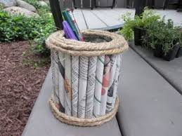 Fathers Day Newspaper Pencil Holder Craft Tutorial