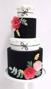 Cake by My Sweet & Saucy Pink and black cakes are so cute