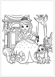 Sofia The First Coloring Pages Free Printable Pictures Print Color Games Colouring Online