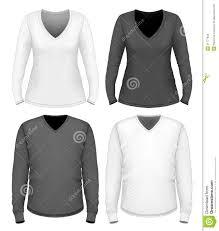 women and men v neck t shirt long sleeve stock vector image