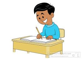 Student Working At Desk Clipart 716
