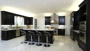Dark Cabinet Kitchens Light Gray Kitchen With Cabinets Best Grey Small Floor Tile Ideas Brown Doors