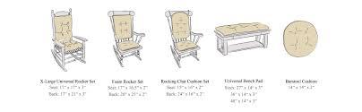 Amazon The Gripper Non Slip Omega Jumbo Rocking Chair Cushions