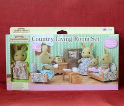 sylvanian families land wohnzimmer set hase mutter epoche calico critters