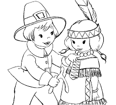 Online Thanksgiving Coloring Book