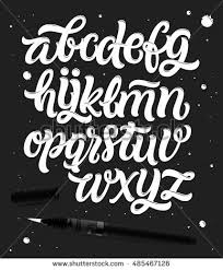 Handwritten Script Font Hand Drawn Brush Style Modern Calligraphy Cursive Typeface Lettering And