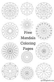 Free Mandala Coloring Pages To Print And Color They Are Suitable For Both Kids