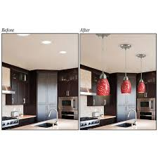 Modern Style Recessed Lighting Converter Before After