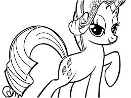 Free My Little Pony Coloring Pages Images Rarity Mlp