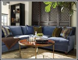 cindy crawford beachside blue denim sofa sofa home furniture