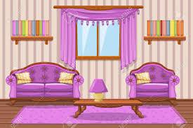 set karikatur gepolsterte möbel violett wohnzimmer