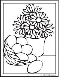 Daisies And Egg Basket