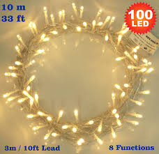 Type Of Christmas Tree Lights by Fairy Lights 100 Led Warm White String Lights 10 Meter Of Clear