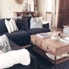 Dark Brown Couch Decorating Ideas by Best 25 Black Couch Decor Ideas On Pinterest Black Sofa Living