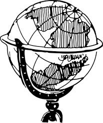 Globe Clipart Black And White