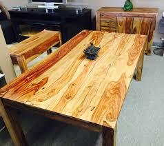 table cuisine bois exotique sheesham table seul 36 x 63