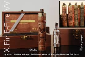 vision xfir efire carved wood vv myvape com e cigarette