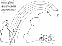 Noahs Ark With Rainbow Coloring Pages Sketch Page