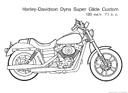 Free Motorcycle Coloring Page Letscoloringpages Harley Davidson Dyna Custom