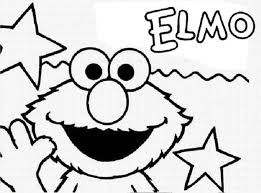 Sesame Street Opening By Elmo Coloring Page