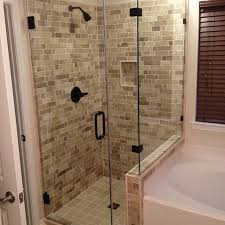 Casa Antica Pencil Tile by Master Shower Project 201480 Rustic Bathroom Houston By
