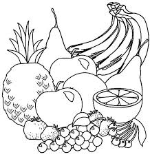Ve ables black and white fruit black and white fruit clipart synkee
