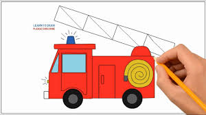 99 How To Draw A Fire Truck Step By Step To A By Easy For Kids Coloring Page