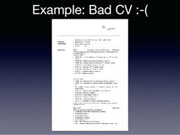Examples Of A Bad Resume Example Resumes For Highschool Students