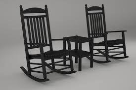 POLYWOOD PWS111-1-BL Jefferson 3-Pc. Rocker Set, Black Polywood Pws11bl Jefferson 3pc Rocker Set Black Mahogany Patio Wrought Iron Rocking Chair Touch To Zoom Outdoor Cu Woven Traditional That Features A Comfortable Curved Seat K147fmatw Tigerwood With Frame Recycled Plastic Pws11wh White Outdoor Resin Rocking Chairs Youll Love In 2019 Wayfair Wooden All Weather Porch Rockers Vermont Woods Studios
