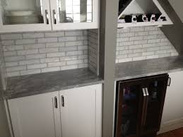 2x8 Ceramic Subway Tile by 2x8 Marble Tile Backsplash We Installed In A Home In Chicago