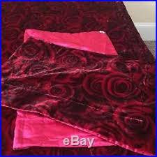 Victoria Secret Bedding Queen by Secret Bedding Black Rose Satin Set Queen Comforter 2 Shams Skirt Rare