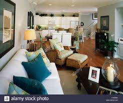 100 Beach Style Living Room Cozy And Kitchen Stock Photo 276558035 Alamy