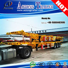 China Factory 20FT 40FT Container Skeleton Chassis Semi Trailer ...