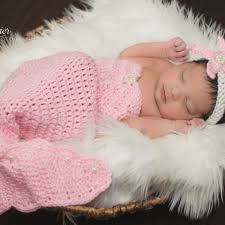 Crochet Newborn Mermaid Outfit With Starfish Headband Pattern By