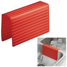 Rubbermaid Sink Mats Red by Interdesign 64183 Lineo Kitchen Sink Saddle Double Sink Protector